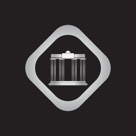Architecture greek columns