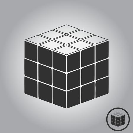 kids toy puzzle. rubik cube Иллюстрация