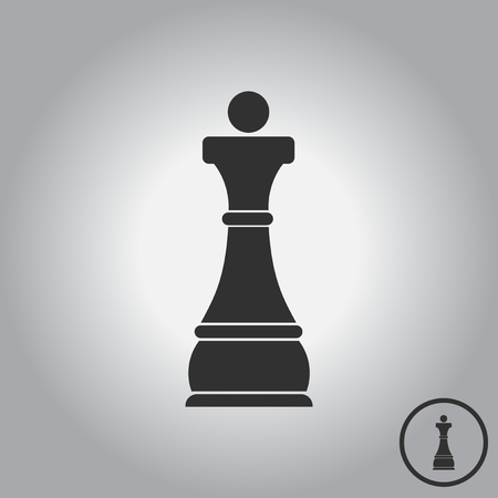chess board: Chess queen Illustration