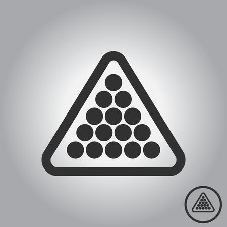 Set of billiard balls in triangle