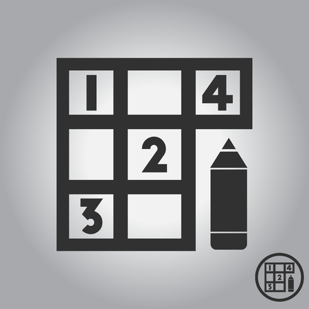 Sudoku and pencil Illustration