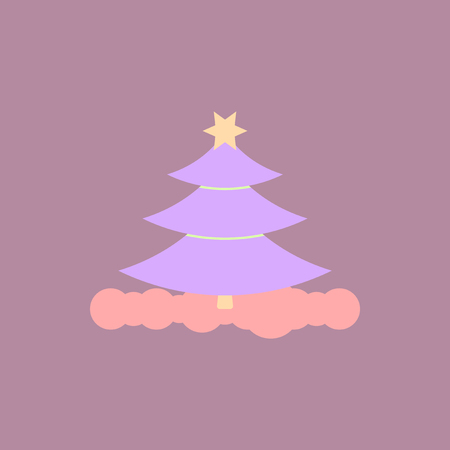 christmas tree Vector illustration christmas tree with star Illustration