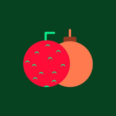 new year balls Vector illustration in flat style Christmas balls