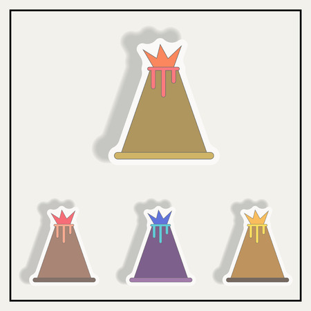 mountain ash: volcano sticker set
