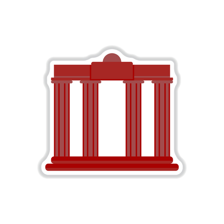 ancient civilization: Vector illustration in paper sticker style Architecture greek columns Illustration