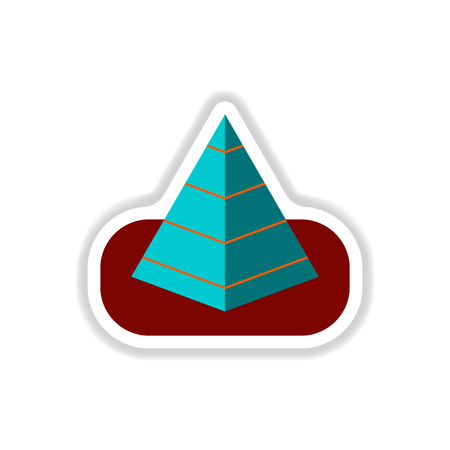 khufu: Vector illustration in paper sticker style Egypt pyramid