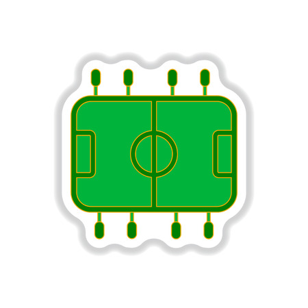 dimensional: Vector illustration in paper sticker style Top View of Table Football