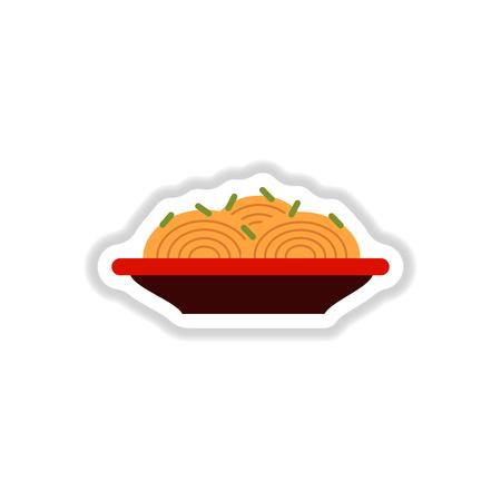Spaghetti alla Carbonara, Traditionele Italiaanse Spaghetti sticker