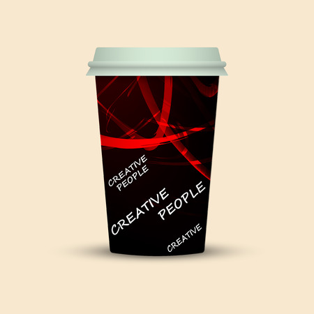 Coffee cup isolated. Coffee cup vector illustration. creative people coffee