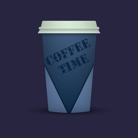 Realistic paper coffee cup. coffee time. coffee to go