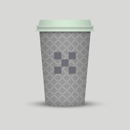 Coffee cup to go vintage texture paper cup take away coffee with logo