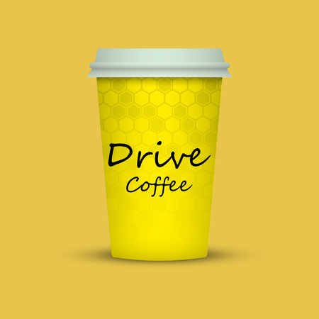 Coffee in plastic cup with words Drive Coffee Иллюстрация