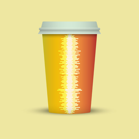 Music Waves Coffee cup vector illustration