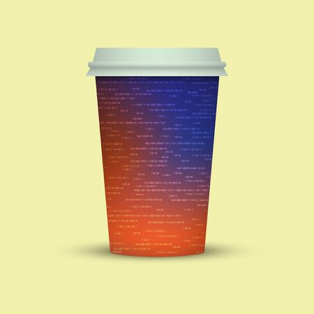 Coffee cup in digital style