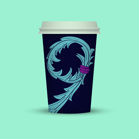 coffee cup in abstract style Imagens
