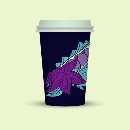 Creative Abstract Plastic coffee cup Ilustração