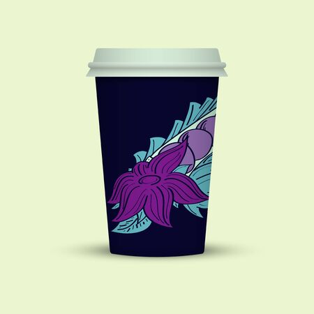 Creative Abstract Plastic coffee cup Illustration
