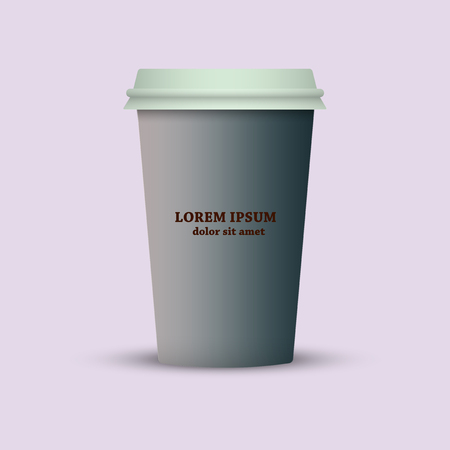 Take out coffee cup vector icon