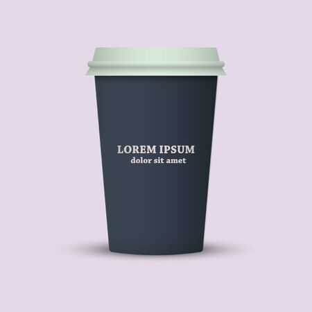 Coffee to go. paper coffee cup