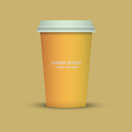 Yellow cup on a yellow background
