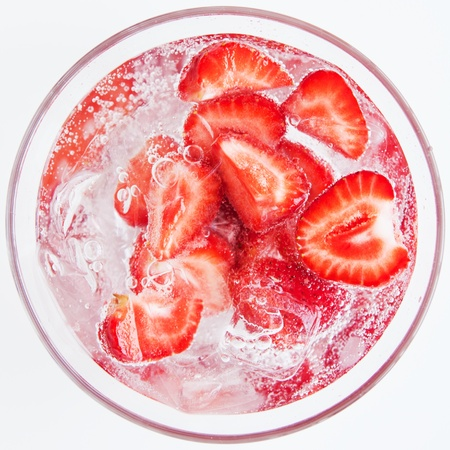 Cool strawberry cocktail for everyone photo