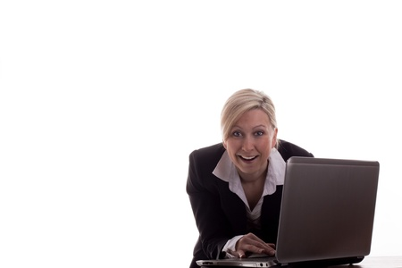 business woman with laptop Stock Photo - 12627017