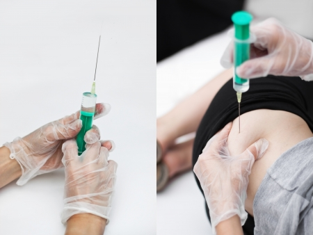 surgical needle: 2 Images of a 5 part series,