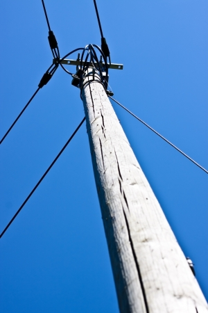a old phone mast photo