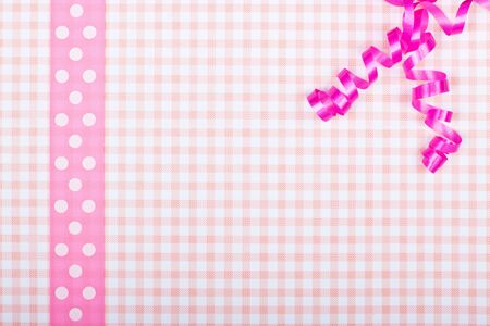 a pink greeting card with bavarian design photo