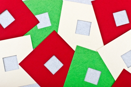 passe: a greeting card with colored squares