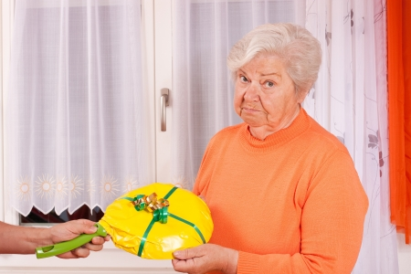 thoughtless: female senior gets an uninspired present