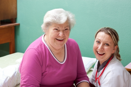 Patient and doctor are smiling Stock Photo - 15812360