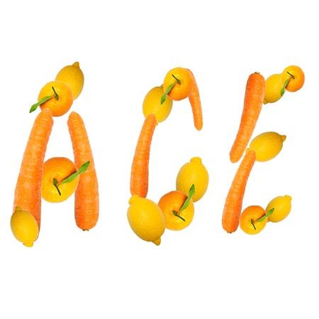 multivitamin: multivitamin ace letter of three fruits