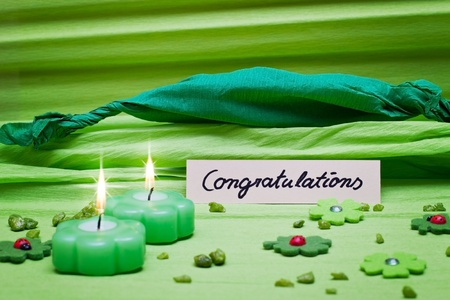 festive romantic green background decoration photo
