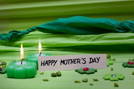 green romantic background decoration for Mothers Day Stock Photo - 17469666