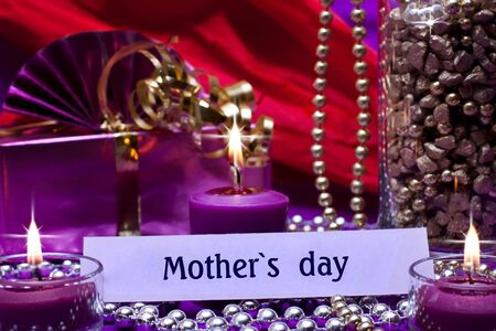 romantic background with text mothers day photo