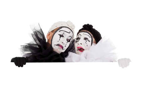 a couple of clowns are crying and sad Stock Photo - 18027100