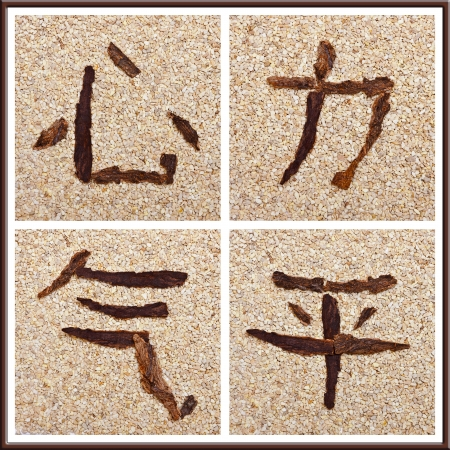 Chinese Character For Heart Force Life Energy Peace Conceptual