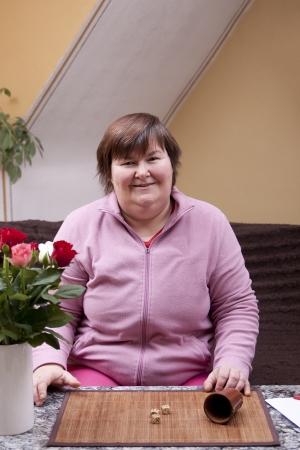 treasured: mentally disabled woman throws and has fun