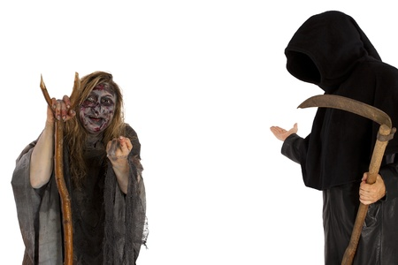 young Witch and death invite Stock Photo - 21622113