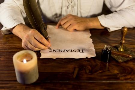 Człowiek napisał swoją ostatnią wolę
