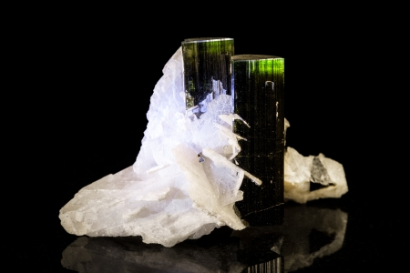 green tourmaline in front of black Stock Photo - 25122230