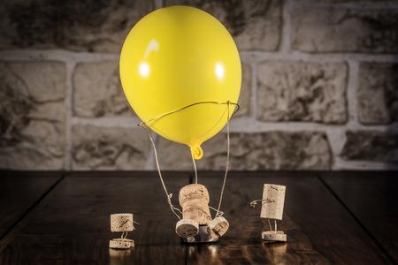 ballooning: Concept Hot-air ballooning wine cork figures