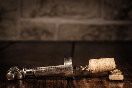 humanly: Concept corkscrew capture a wine cork figure