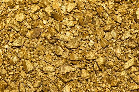 wspaniałe tło z wielu bryłki złota Zdjęcie Seryjne