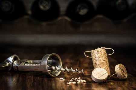 humanly: Concept Headache because a corkscrew, wine cork figure
