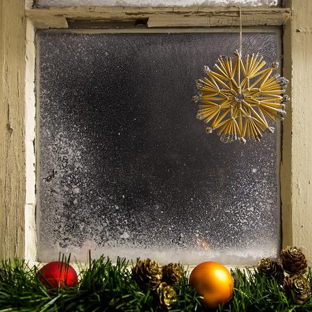 romantic christmas decoration on a window 18 photo