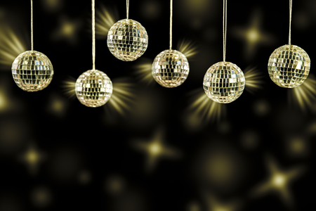 party background with golden light effects