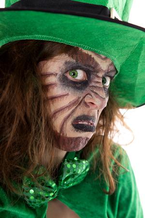 Portrait of an irish Leprechaun girl, concept St. Patrick´s Day and Ireland