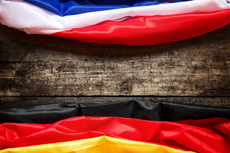 neighboring: Germany and France Flag, Concept Coalition, Europe and Business